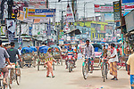 A street scene in Suihari in northern Bangladesh.