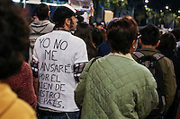 Protesters attend a march at the National Palace in Mexico City.  In support of the 43 student teachers who presumably were killed and incinerated in the state of Guerrero, 11/8/2014 VIEWpress / Miguel Angel Pantaleon