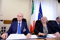 Roma, 9 Maggio 2017<br />  Il Procuratore della Repubblica del tribunale di Catania, Carmelo Zuccaro e  Rosy Bindi durante l'audizione alla Commissione Parlamentare antimafia