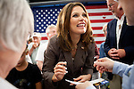 GOP Presidential candidate Rep. Michele Bachmann greets supporters at a town hall event in Marshalltown, Iowa, July 23, 2011.