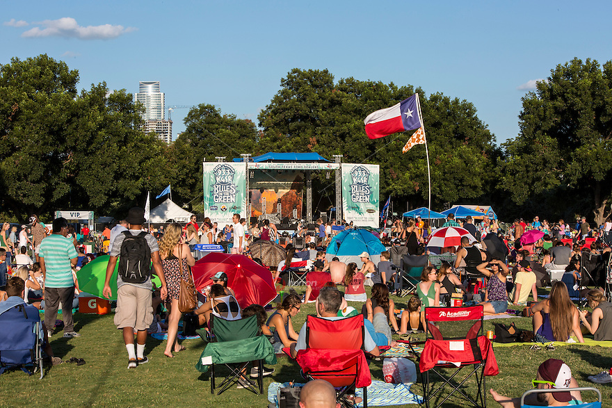 Blues on the Green is a classic Austin summer experience. There's nothing quite like taking in the sunset and hearing some live music at Zilker Park with the downtown Austin skyline as your backdrop canvas.