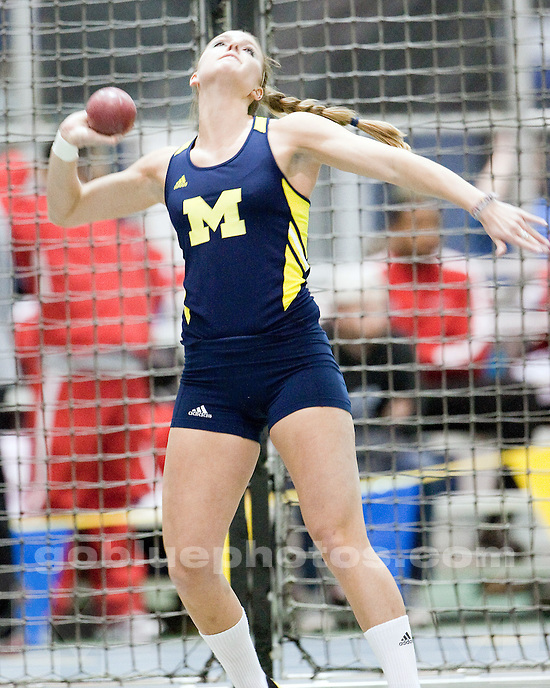 2/20/2010 Michigan women's track and field Silverston Invitational.