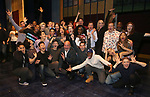 """Director Casey Nicholaw with the cast During the Actors' Equity Opening Night Legacy Robe honoring Vasthy Mompoint for """"The Prom"""" at The Longacre Theatre on November 15, 2018 in New York City."""