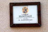 l'ermite ermitage vineyard domaine m chapoutier hermitage rhone france