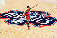 Washington, DC - September 8, 2019: Washington Mystics guard Natasha Cloud (9) directs the offense during game between the Chicago Sky and Washington Mystics at the Entertainment and Sports Arena in Washington, DC. The Mystics locked up the #1 seed in the Playoffs by defeating the Sky 100-86. (Photo by Phil Peters/Media Images International)