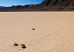 The travelling rocks of Racetrack in Death valley