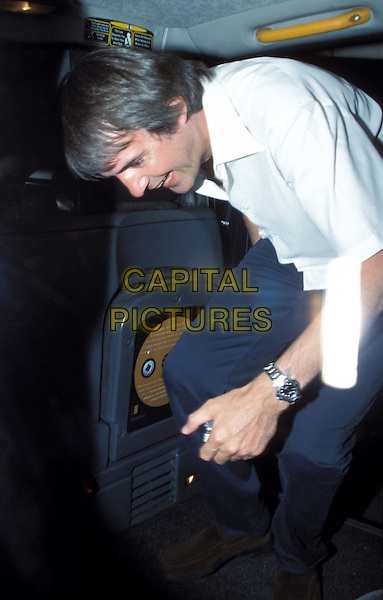 NEIL MORRISSEY ..leaves The Ivy restaurant by taxi..www.capitalpictures.com..sales@capitalpictures.com..©Capital Pictures..half length, half-length