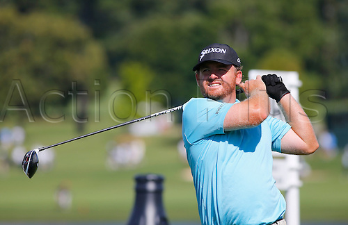 23.09.2016. Atlanta, Georgia, USA.  J.B. Holmes tees off hole #16 during the second round of the Tour Championship at the East Lake Golf Club in Atlanta, GA.