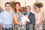Baby Jack Flavin with his parents Sharon & Mike Flavin, Listowel who was christened in St. Mary's Church, Listowel by Canon Declan O'Connor and afterwards at the Kingdom Bar, Listowel