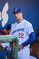 Riley Richert (22) of the Ogden Raptors before the game against the Orem Owlz at Lindquist Field on June 19, 2018 in Ogden, Utah. The Raptors defeated the Owlz 7-2. (Stephen Smith/Four Seam Images)