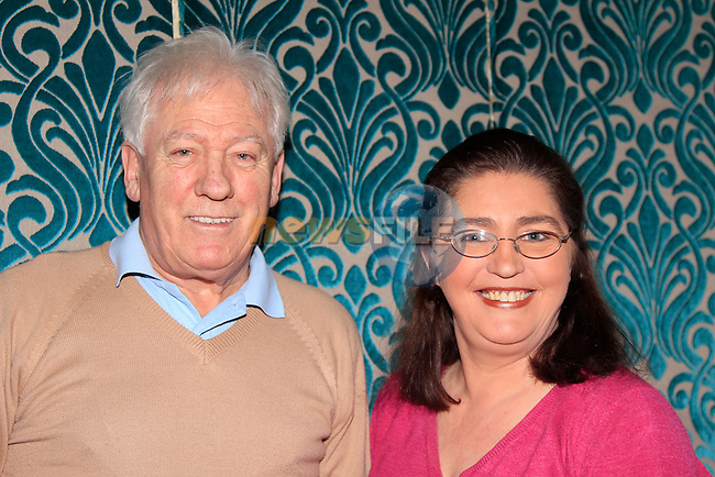 Hugh Cunningham &amp; Rose O'Brien during the Set Dancing weekend at An Grian&aacute;n in Termonfeckin on Saturday 24th January 2015.<br /> Picture:  Thos Caffrey / www.newsfile.ie