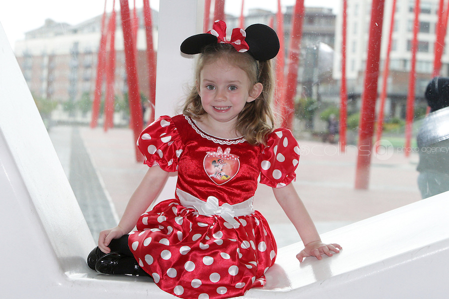 NO FEE PICTURES 5/5/11 Katie Craven, age 5 pictured at the opening night of Disney Live! Mickeys Musical Adventure at the Grand Canal Theatre, Dublin. The spectacular stage show features all your Disney favourites and runs until this Sunday. Picture:Arthur Carron/Collins