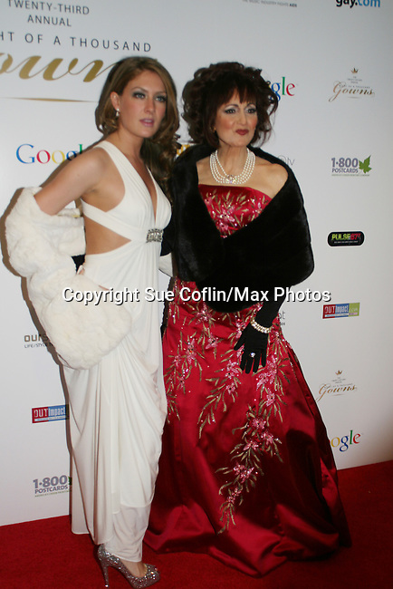 One Life To Live's BethAnn Bonner wearing FENDI cape and dress by GBGBC & Robin Strasser (dress by Vivaldi and makup by Christopher) attend The Imperial Court of New York as it presents 23rd Annual Night of a Thousand Gowns Charity Ball and Auction to benefit LIFEbeat (Music Industry Fights AIDS) and MCCNY Homeless Youth Services on March 21, 2009 at the New York Marriott Marquis, New York City, NY. (Photo by Sue Coflin/Max Photos)