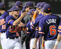 Photo of the South Carolina Gamecocks in a game against the Clemson Tigers on Tuesday, March 8, 2011, at Fluor Field in Greenville, S.C.  Photo by Tom Priddy / Four Seam Images
