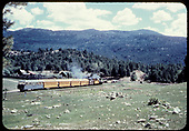 Excursion train with &quot;Silver Vista&quot; at Rockwood.<br /> D&amp;RGW  Rockwood, CO
