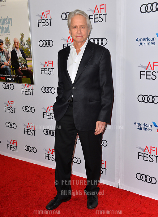 LOS ANGELES, CA. November 10, 2018: Michael Douglas &amp; Cameron Douglas at the AFI Fest 2018 world premiere of &quot;The Kominsky Method&quot; at the TCL Chinese Theatre.<br /> Picture: Paul Smith/FeatureflashLOS ANGELES, CA. November 10, 2018: Michael Douglas at the AFI Fest 2018 world premiere of &quot;The Kominsky Method&quot; at the TCL Chinese Theatre.<br /> Picture: Paul Smith/Featureflash