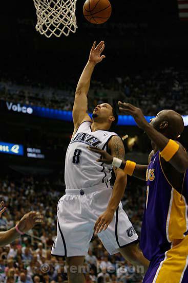 Utah Jazz vs. Los Angeles Lakers, game six, NBA playoffs second round, Friday, May 16, 2008. Utah Jazz guard Deron Williams (8)