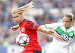 VfL Wolfsburg's Isabel Kerschowski (r) and Olympique Lyonnais' Ada Hegerberg during UEFA Women's Champions League 2015/2016 Final match.May 26,2016. (ALTERPHOTOS/Acero)