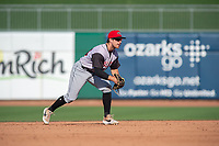 Arkansas Travelers infielder Donnie Walton (14) readies for a pitch during a Texas League game between the Northwest Arkansas Naturals and the Arkansas Travelers on May 30, 2019 at Arvest Ballpark in Springdale, Arkansas. (Jason Ivester/Four Seam Images)