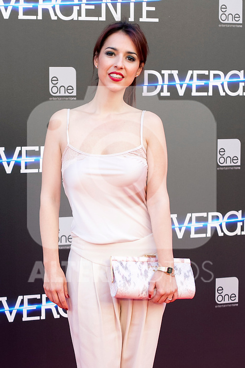 "Spanish actress Cristina Brondo  attend the Premiere of the movie ""DIVERGENT"" at Callao Cinema inMadrid, Spain. April 03, 2014. (ALTERPHOTOS/Carlos Dafonte)"