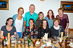 Enjoying the night out in Bella Bia on Saturday night.<br /> Seated l-r, Ann Doyle, Ann McElroy, SallyAnn Walsh and Theresa O&rsquo;Leary.<br /> Back l-r, Orla McSweeney, Martina Fleming, Jimmy Adams, Mags Riordan and Bernadette Brosnan.