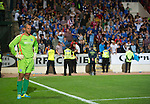 St Johnstone v FC Minsk...08.08.13 Europa League Qualifier<br /> A gutted Alan Mannus after saints lost on penalties<br /> Picture by Graeme Hart.<br /> Copyright Perthshire Picture Agency<br /> Tel: 01738 623350  Mobile: 07990 594431