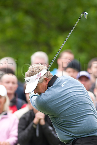 LOCH LOMOND SCOTLAND. 07-07-2010. Colin Montgomerie (GBR) in action during the 1st day of the PGA European Tour, Barclays Scottish Open part of the race to Dubai.
