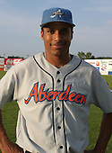 August 16, 2003:  Josh McCurdy of the Aberdeen Ironbirds, Class-A affiliate of the Baltimore Orioles, during a game at Falcon Park in Auburn, NY.  Photo by:  Mike Janes/Four Seam Images