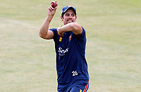 Sir Alastair Cook bowls during the warm up prior to Essex CCC vs Kent CCC, Bob Willis Trophy Cricket at The Cloudfm County Ground on 4th August 2020
