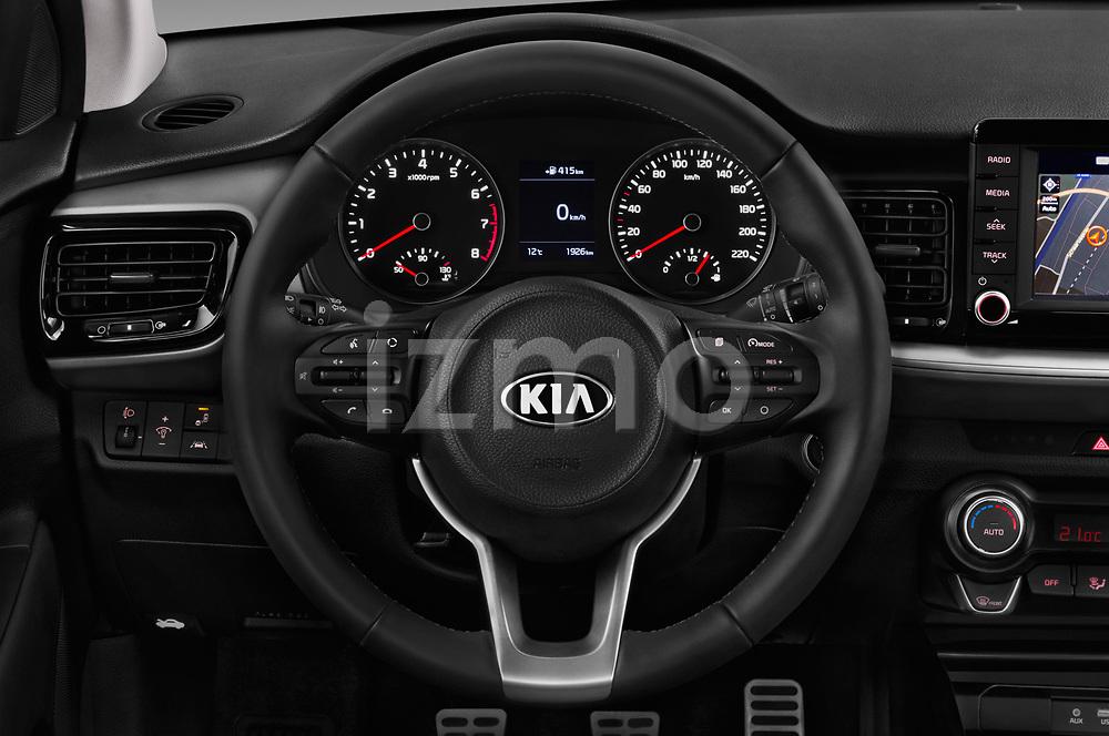 Car pictures of steering wheel view of a 2018 KIA Stonic Sense 5 Door SUV