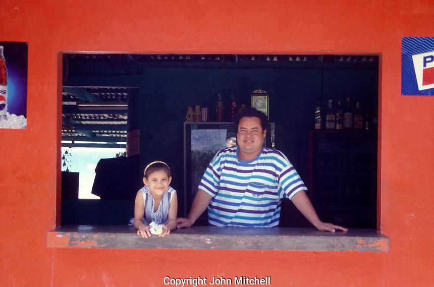 Father and daughter in San Juan del Sur, Nicaragua