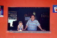 Father and daughter in San Juan del Sur, Nicaragua