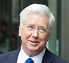 Guests arriving and departing various political programmes on the <br /> BBC, Broadcasting House, London, Great Britain <br /> 11th June 2017 <br /> <br /> <br /> Sir Michael Fallon MP <br /> Defence Secretary <br /> leaves the BBC after the Andrew Marr Show <br /> <br /> <br /> <br /> <br /> Photograph by Elliott Franks <br /> Image licensed to Elliott Franks Photography Services