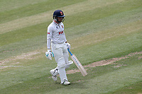 Adam Wheater leaves the field having been dismissed for 16 during Essex CCC vs Nottinghamshire CCC, Specsavers County Championship Division 1 Cricket at The Cloudfm County Ground on 23rd June 2018