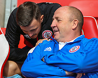 Accrington Stanley manager John Coleman takes his seat for the match<br /> <br /> Photographer Alex Dodd/CameraSport<br /> <br /> The EFL Sky Bet League One - Fleetwood Town v Accrington Stanley - Saturday 15th September 2018  - Highbury Stadium - Fleetwood<br /> <br /> World Copyright &copy; 2018 CameraSport. All rights reserved. 43 Linden Ave. Countesthorpe. Leicester. England. LE8 5PG - Tel: +44 (0) 116 277 4147 - admin@camerasport.com - www.camerasport.com