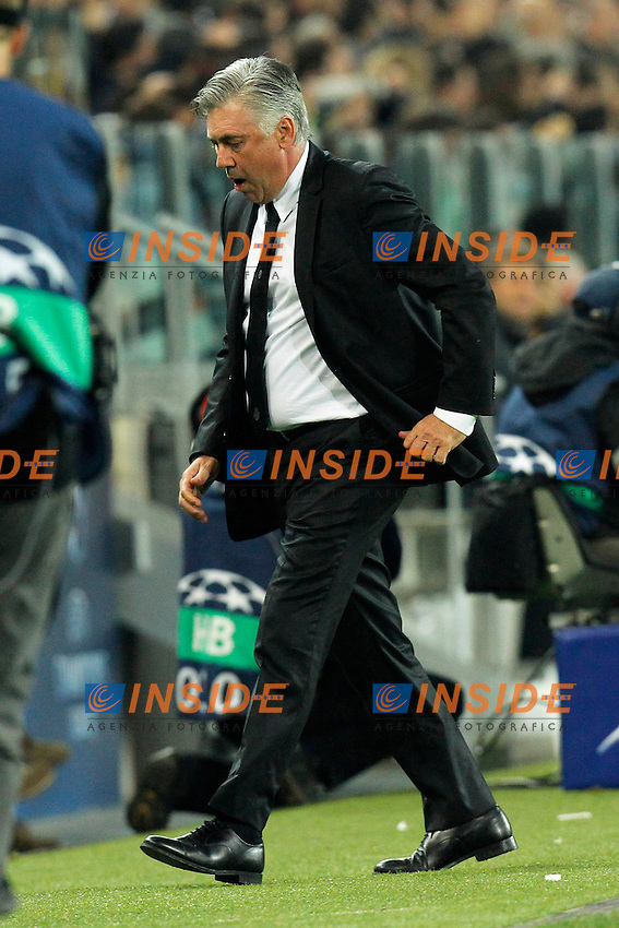 Carlo Ancelotti Real Madrid, Torino 05-11-2013 Juventus Stadium Football Calcio 2013/2014 Champions League Juventus - Real Madrid Foto Marco Bertorello / Insidefoto