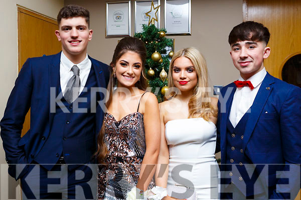 Attending the Mercy Mounthawk debs in the Ballyroe Heights Hotel on Thursday night last, l to r, Tom Houston (Tralee), Lauren Griffin (Tralee), Niamh O'Sullivan (Tralee) and Shane McElligott (Tralee).