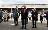 SAO PAULO, SP, 09 JULHO 2012 - 80 ANOS REVOLUCAO DE 1932 - Governador do Estado Geraldo Alkmin  (c) durante solenidade alusiva ao 80º aniversario da Revolução Constitucionalista de 1932, na regiao do Parque do Ibirapuera, regiao sul da capital paulista, nesta segunda-feira, 09. (FOTO: VANESSA CARVALHO / BRAZIL PHOTO PRESS).