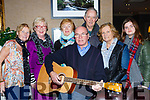 Musician Jimmy Flynn tuning up for the Dancec the Night Away for Multiple Schlorosis South Kerry branch wich will be held in the Gleneagle Hotel on December 1st l-r: Kay Fleming, Mary O'Connor, Norrie O'Neill, Pat O'Neill, Mary O'Connor and Zara Daly