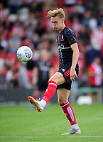 Lincoln City's trialist during the pre-match warm-up<br /> <br /> Photographer Chris Vaughan/CameraSport<br /> <br /> Football Pre-Season Friendly - Lincoln City v Sheffield Wednesday - Saturday July 13th 2019 - Sincil Bank - Lincoln<br /> <br /> World Copyright © 2019 CameraSport. All rights reserved. 43 Linden Ave. Countesthorpe. Leicester. England. LE8 5PG - Tel: +44 (0) 116 277 4147 - admin@camerasport.com - www.camerasport.com