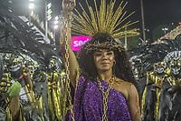 Rio de Janeiro (RJ), 23/02/2020 -Carnaval - Rio - Apresentacao da escolaEstacao Primeira de Mangueira no primeiro dia de desfile das escolas de samba do Grupo Especial do Rio de Janeiro neste domingo (23) na Marques de Sapucai. Rainha da bateria Eveln Bastos (Foto: Ellan Lustosa/Codigo 19/Codigo 19)