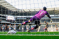 Lincoln City's Jorge Grant scores the opening goal from the penalty spot, sending Milton Keynes Dons' Lee Nicholls the wrong way<br /> <br /> Photographer Chris Vaughan/CameraSport<br /> <br /> The EFL Sky Bet League One - Milton Keynes Dons v Lincoln City - Saturday 19th September 2020 - Stadium MK - Milton Keynes<br /> <br /> World Copyright © 2020 CameraSport. All rights reserved. 43 Linden Ave. Countesthorpe. Leicester. England. LE8 5PG - Tel: +44 (0) 116 277 4147 - admin@camerasport.com - www.camerasport.com