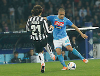 Gokhan Inler  during the Italian Serie A soccer match between SSC Napoli and Juventus FC   at San Paolo stadium in Naples, March 30 , 2014
