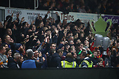 5th February 2019, Rodney Parade, Newport, Wales; FA Cup football, 4th round replay, Newport County versus Middlesbrough; Newport County fans celebrate their 2-0 win