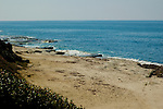 Sandy beach with blue sea