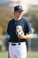March 17th 2008:  Dan Kapala of the New York Yankees minor league system during Spring Training at Legends Field Complex in Tampa, FL.  Photo by:  Mike Janes/Four Seam Images