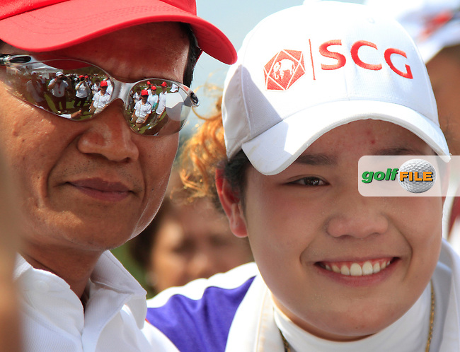Ariya Jutanugarn (THA) poses for photo's during the Tuesday Practice Day of the Honda LPGA at the Siam Country Club Old Course in Pattaya on Tuesday 24th February 2015.<br /> Picture:  Thos Caffrey / www.golffile.ie