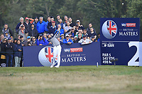 Matthias Schwab (AUT) on the 2nd tee during Round 3 of the Sky Sports British Masters at Walton Heath Golf Club in Tadworth, Surrey, England on Saturday 13th Oct 2018.<br /> Picture:  Thos Caffrey | Golffile