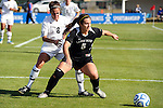 03 DEC 2011: Carmelina Puopolo (5) of Saint Rose and Megan Brown (8) of GVSU battle for the ball during the Division II Women's Soccer Championship held at the Ashton Brosnaham Soccer Complex in Pensacola, FL.  Saint Rose defeated Grand Valley State 2-1 to win the national title.  Stephen Nowland/NCAA Photos