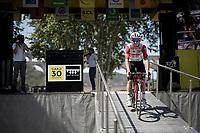 Jasper de Buyst (BEL/Lotto-Soudal) at the race start at the Pont du Gard<br /> <br /> Stage 17: Pont du Gard to Gap(206km)<br /> 106th Tour de France 2019 (2.UWT)<br /> <br /> ©kramon
